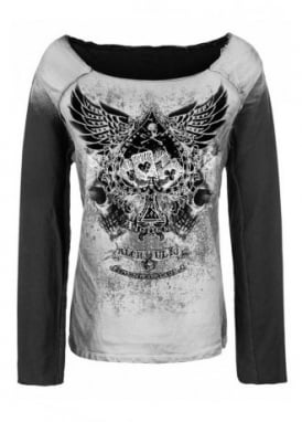Winged Ace Of Spades Sweater