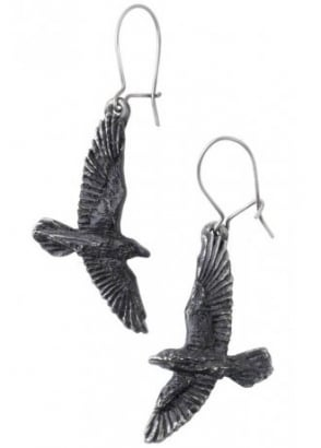 Black Raven Earrings