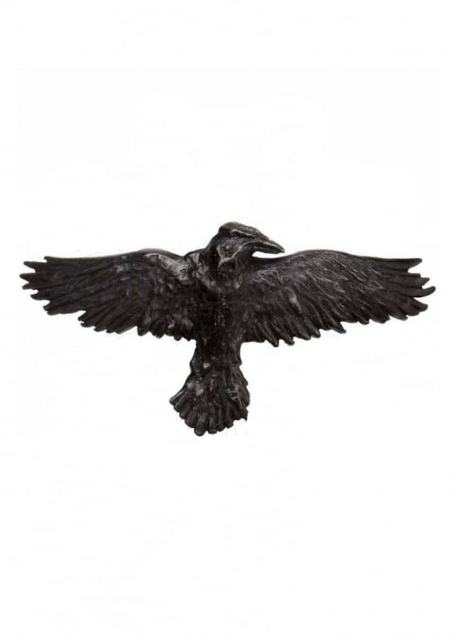 Alchemy Gothic Black Raven Hair Slide