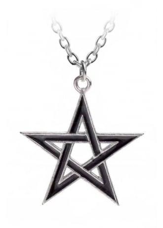 Alchemy Gothic Black Star Pendant