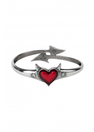Alchemy Gothic Devil Heart Bangle