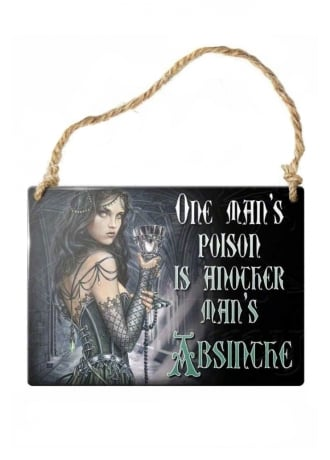Alchemy Gothic One Man's Poison Metal Sign
