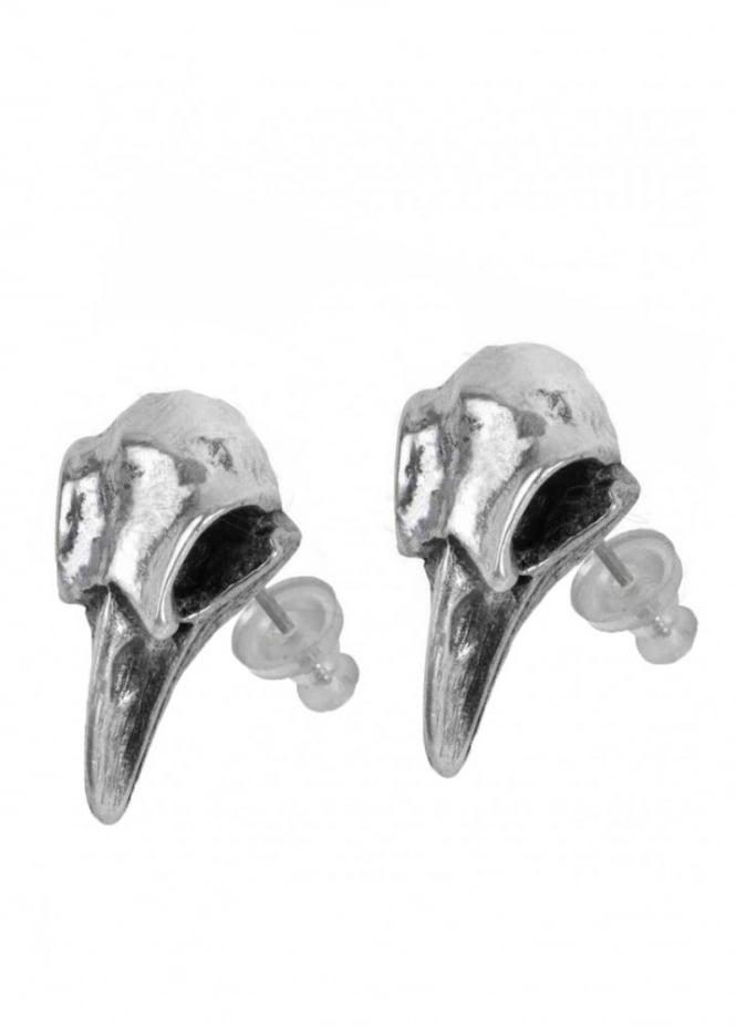 Alchemy Gothic Rabeschadel Stud Earrings