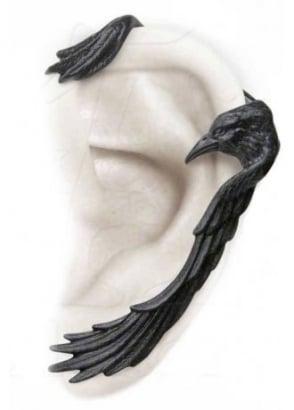 Raven Ear-Wing Ear Wrap