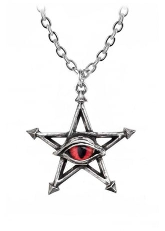 Alchemy Gothic Red Curse Pendant