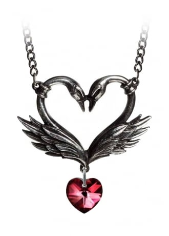 Alchemy Gothic The Black Swan Romance Necklace