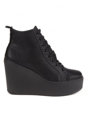 Altercore Bird PU Wedge Ankle Boots
