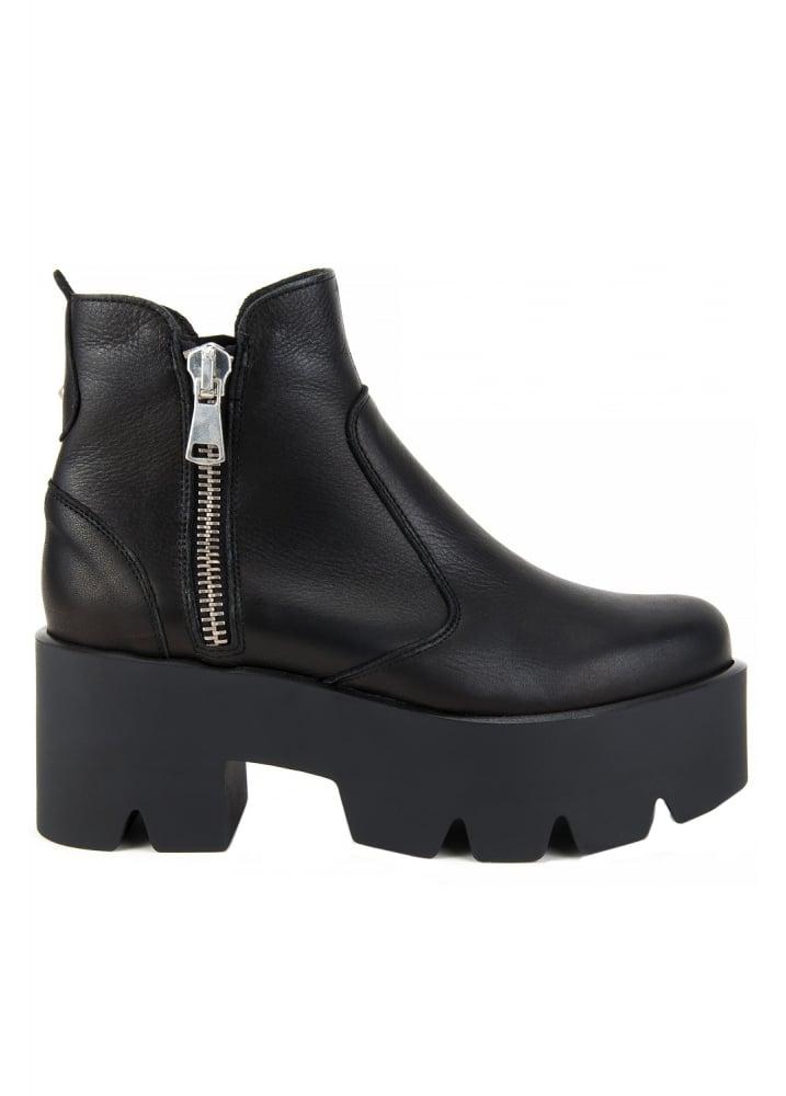 Altercore Doris Leather Platform Boots