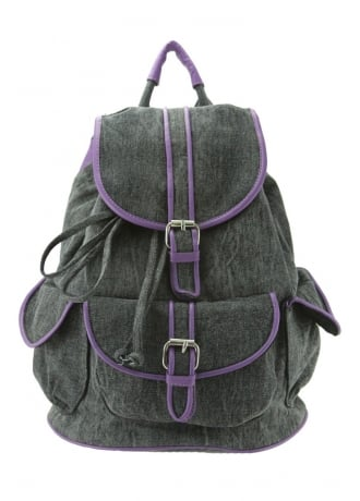 Anna Smith New York Purple Contrast Backpack