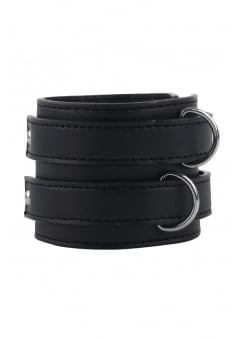 2 Strap Faux Leather Wristband
