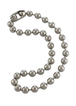 8mm Antique Metal Ball Chain Necklace