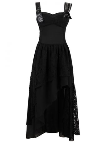 Attitude Clothing Asymmetric Gothic Maxi Dress