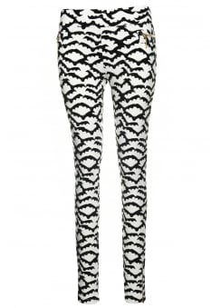 Bat Print Stretch Pants