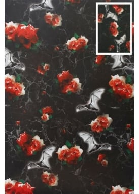 Bat Rose Wrapping Paper & Tag