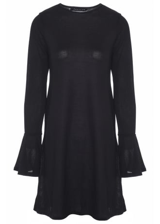 Attitude Clothing Bell Sleeve Knit Dress