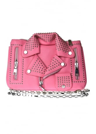Attitude Clothing Biker Jacket Shoulder Bag