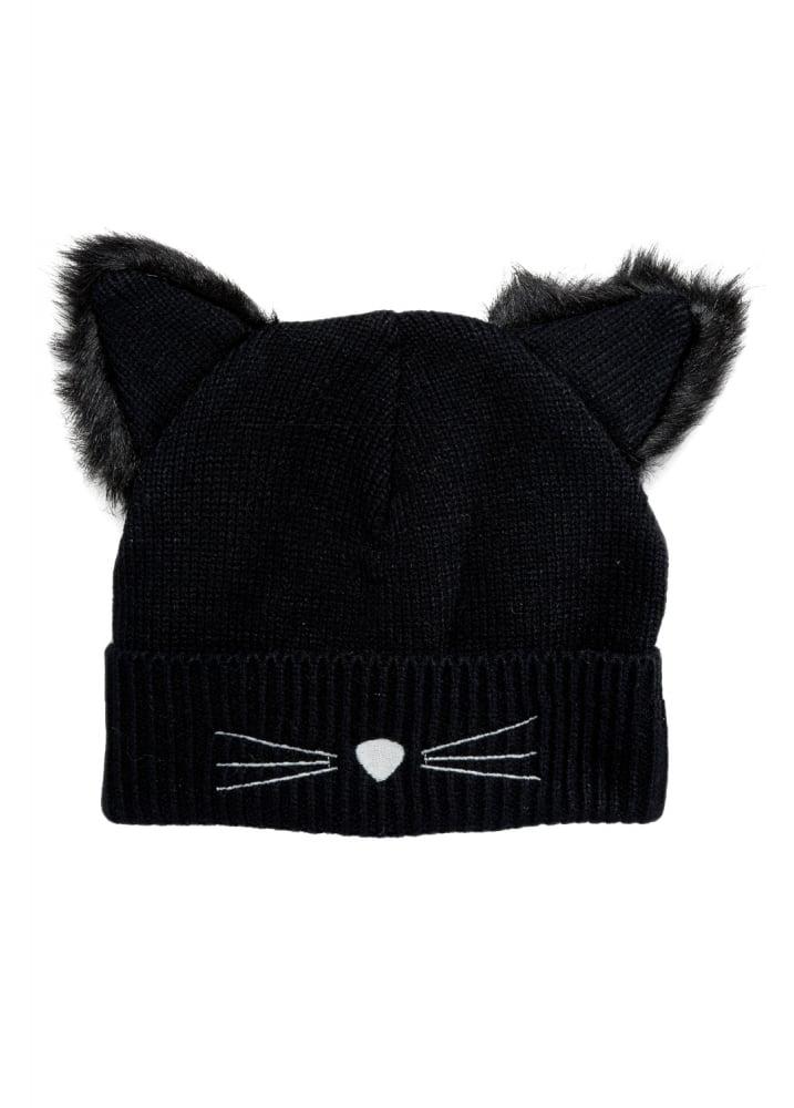 5160b95a7f7 Black Cat Beanie Hat