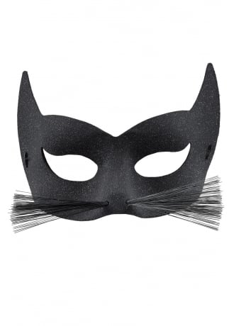 Attitude Clothing Black Cat Glitter Mask