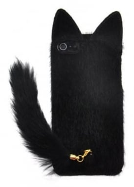 Black Fluffy Cat Tail iPhone 6/6S/7 Case