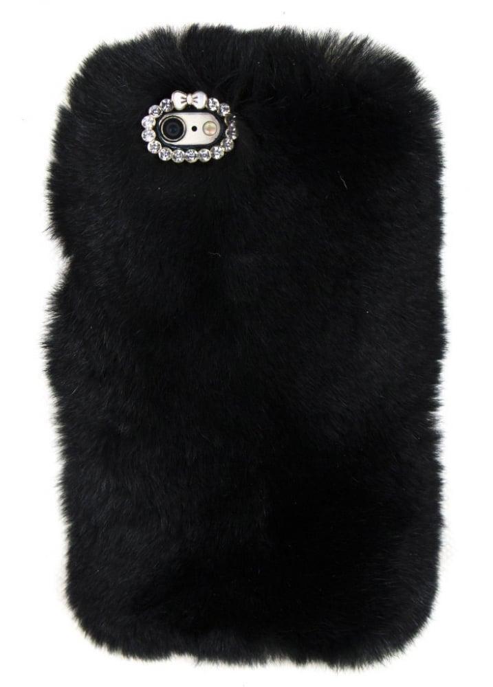 official photos 7063d 30057 Black Furry iPhone 6/6S Case