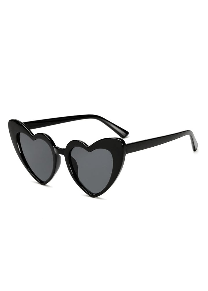 94230a9cfd1 Black Heart Shape Cat Eye Sunglasses