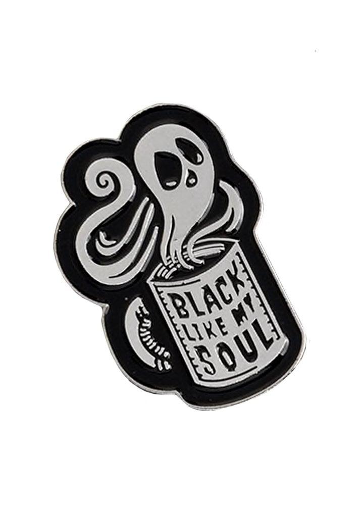 a4670b534c7 Black Like My Soul Enamel Pin   Attitude Clothing
