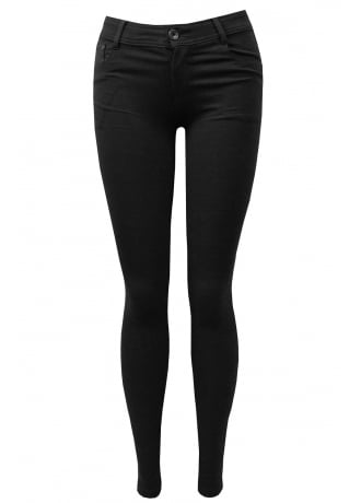 Attitude Clothing Black Stretch Skinny Jeans
