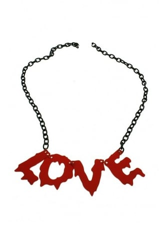 Attitude Clothing Blood Drip Love Necklace