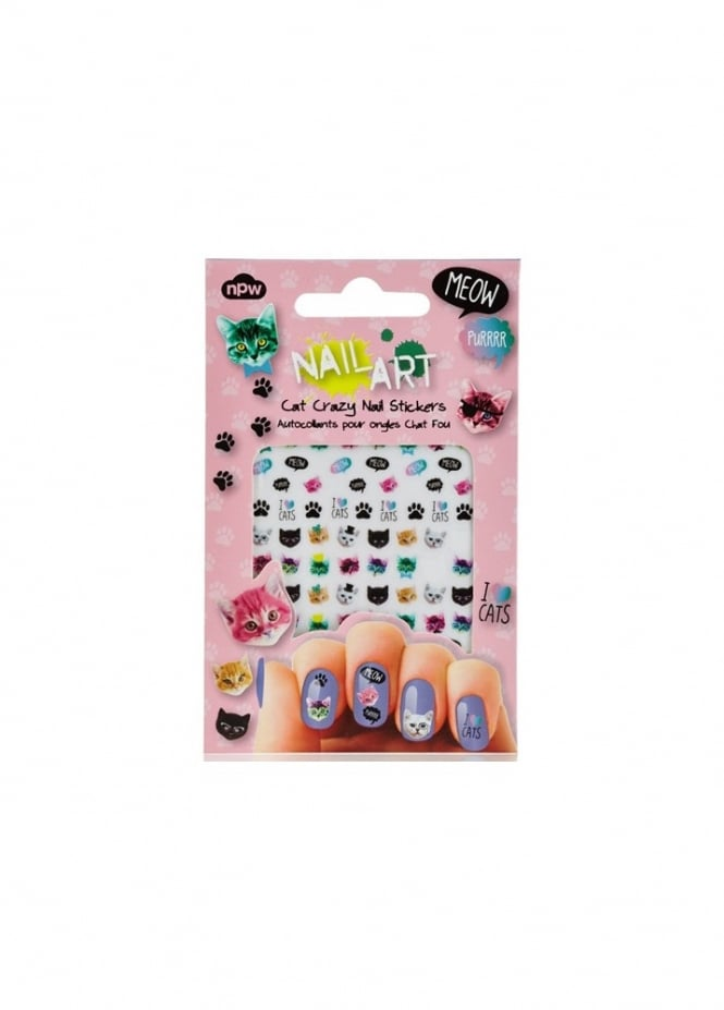 Attitude Clothing Cat Crazy Nail Stickers