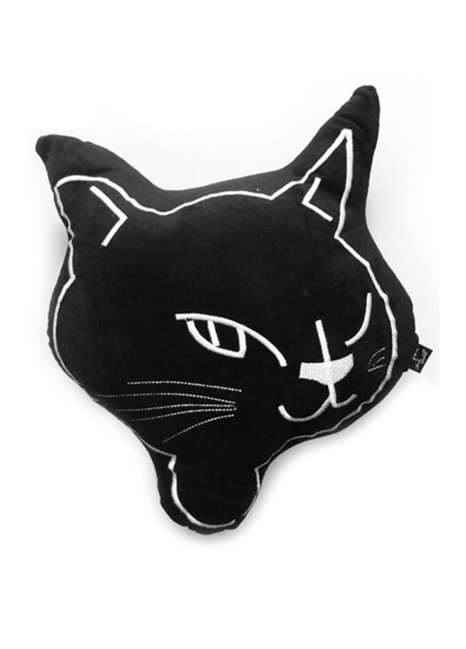 Attitude Clothing Cat Face Cushion