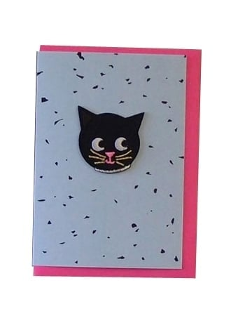 Attitude Clothing Cat Patch Card