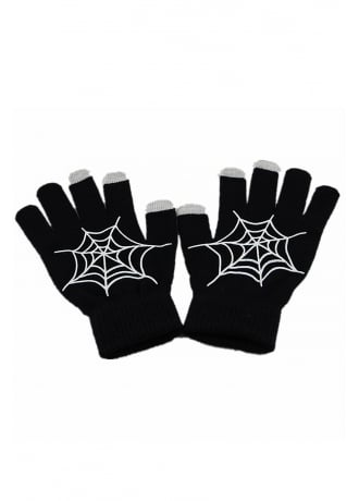 Attitude Clothing Cobweb Touch Screen Gloves