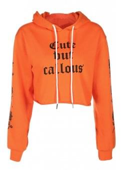 Cute But Callous Cropped Hoodie