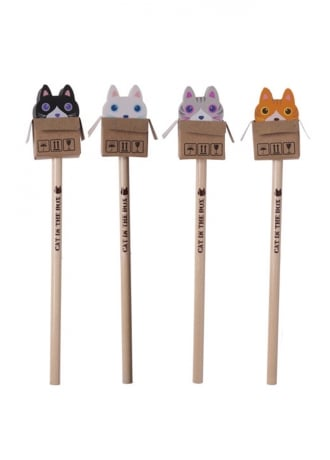 Attitude Clothing Cute Cat Pencil With Eraser Top