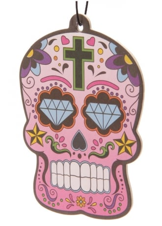 Attitude Clothing Day Of The Dead Skull Cherry Air Freshener