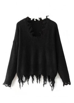 Destroyed Knit Jumper