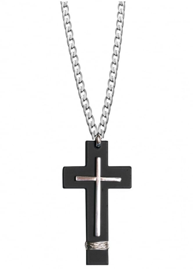 Attitude Clothing Double Cross Necklace