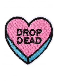 Drop Dead Heart Iron-On Woven Patch