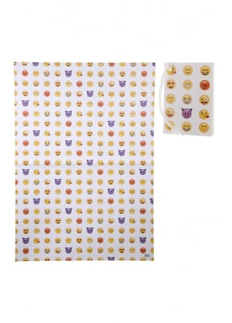 Attitude Clothing Emoji Wrapping Paper & Tag