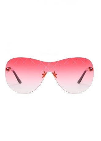 Attitude Clothing Etched Shield Sunglasses