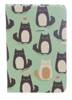 Feline Fine Cat Hardback Lined Notebook