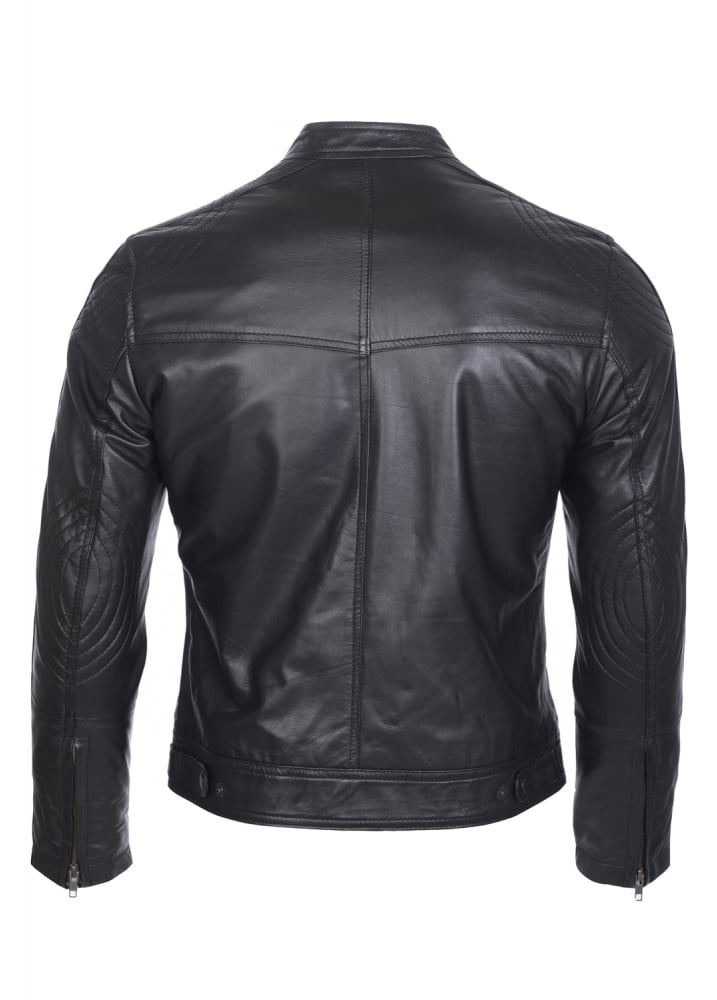 6da1d62e0 Attitude Clothing Fitted Leather Biker Jacket