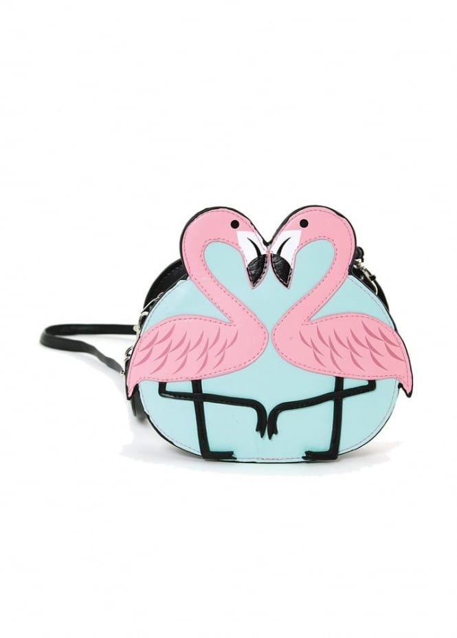 Attitude Clothing Flamingo Love Shoulder Bag
