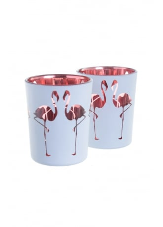Attitude Clothing Flamingo Tea Light Holders
