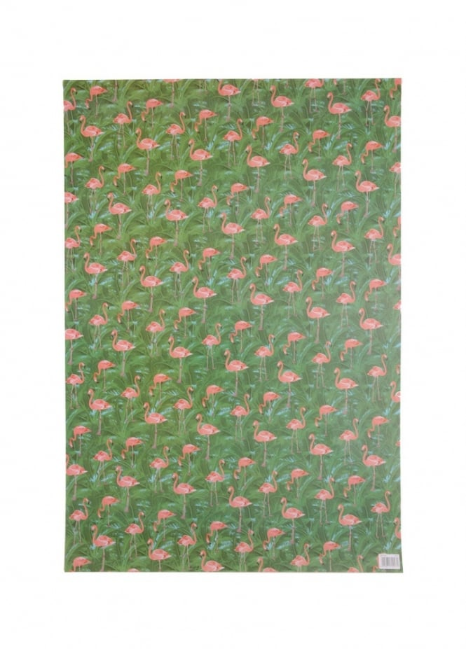 Attitude Clothing Flamingo Wrapping Paper & Tag
