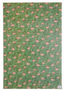 Flamingo Wrapping Paper & Tag