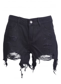 Frayed Studded Shorts