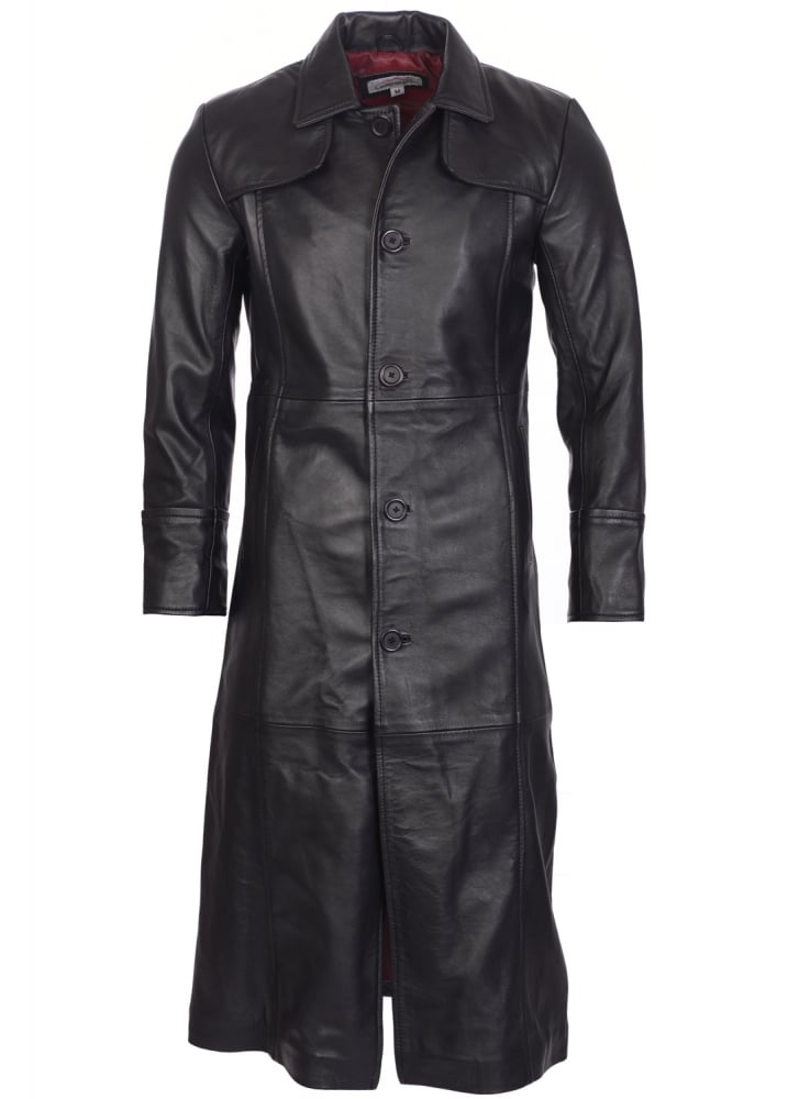Full Length Leather Trench Coat