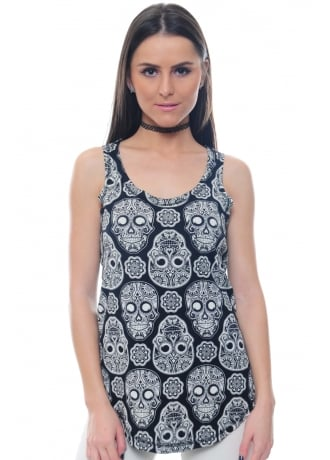 Attitude Clothing Full Skull Vest
