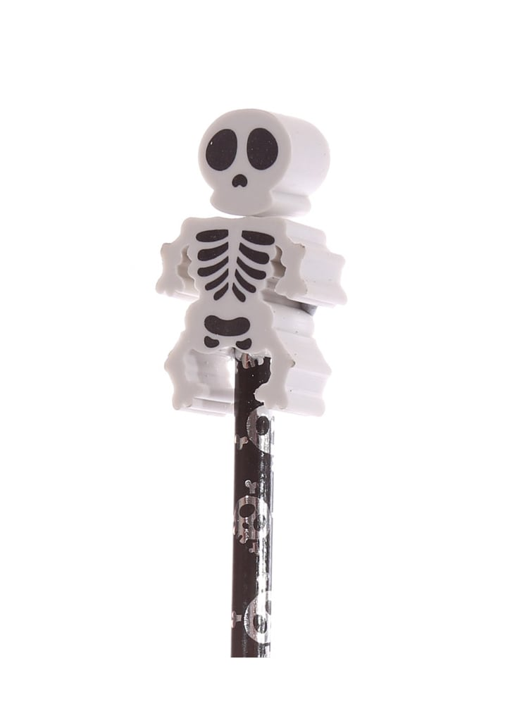 Attitude Clothing Glow In The Dark Skeleton Pencil With Eraser Topper